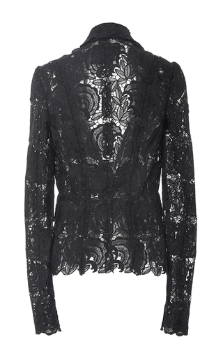 Flower Lace Jacket by MONIQUE LHUILLIER for Preorder on Moda Operandi