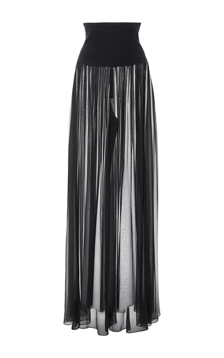 High Waisted Palazzo Pant by MONIQUE LHUILLIER for Preorder on Moda Operandi