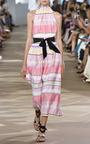 Midi Dress With High Ruffle Neckline by MONIQUE LHUILLIER for Preorder on Moda Operandi