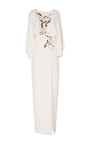 Floral Embroidered Long Sleeve Gown by MONIQUE LHUILLIER for Preorder on Moda Operandi