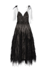 Embroidered Sequin V Neck Midi Gown by MONIQUE LHUILLIER for Preorder on Moda Operandi