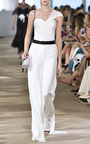 One Shoulder Draped Top by MONIQUE LHUILLIER for Preorder on Moda Operandi
