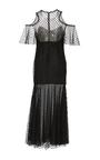 Polka Dot Tulle Midi Dress by MONIQUE LHUILLIER for Preorder on Moda Operandi