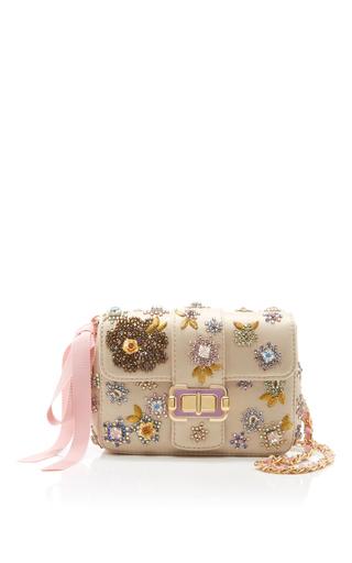 Medium monique lhuillier gold floral small bianca shoulder bag