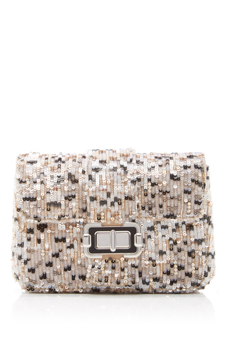 Neutral Small Bianca Shoulder Bag by MONIQUE LHUILLIER for Preorder on Moda Operandi