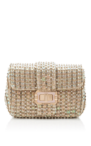 Iridescent Opal Small Bianca Shoulder Bag by MONIQUE LHUILLIER for Preorder on Moda Operandi