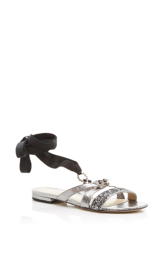 Genna Flat Sandal by MONIQUE LHUILLIER for Preorder on Moda Operandi