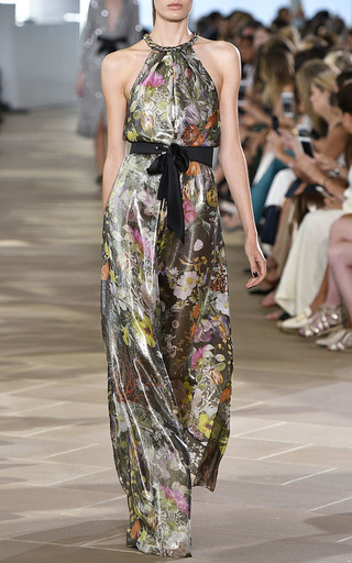 High Waisted Belt With Silk Tie by MONIQUE LHUILLIER for Preorder on Moda Operandi