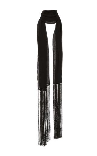 Chiffon Fringe Scarf by MONIQUE LHUILLIER for Preorder on Moda Operandi