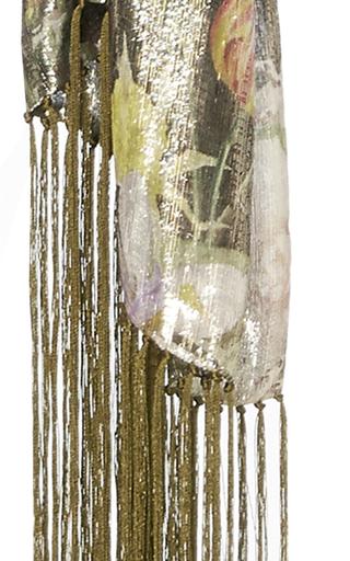 Metallic Lame Fringe Scarf by MONIQUE LHUILLIER for Preorder on Moda Operandi