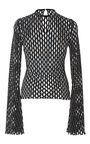 Naos Knit Mesh Long Sleeve Top by BEAUFILLE for Preorder on Moda Operandi