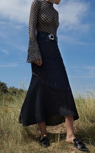 Pegasus Denim Midi Skirt by BEAUFILLE for Preorder on Moda Operandi
