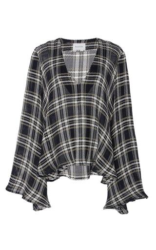 Medium beaufille plaid calypso v neck plaid sweater