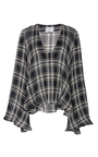 Calypso V Neck Plaid Sweater by BEAUFILLE for Preorder on Moda Operandi