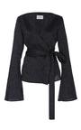 Alula Pinstripe Wrap Blouse by BEAUFILLE for Preorder on Moda Operandi