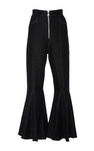 Chara Denim Flared Pants by BEAUFILLE for Preorder on Moda Operandi