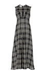 Sigma Plaid Cutout Dress by BEAUFILLE for Preorder on Moda Operandi