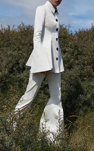 Heze Seamed Peplum Jacket by BEAUFILLE for Preorder on Moda Operandi