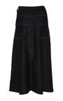 Serpens Denim A Line Skirt by BEAUFILLE for Preorder on Moda Operandi