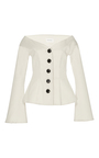 Atria Off The Shoulder Tailored Blouse by BEAUFILLE for Preorder on Moda Operandi