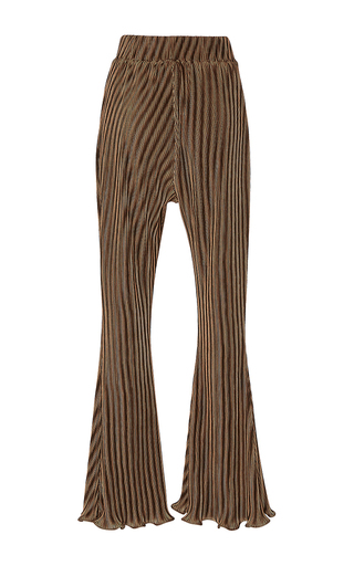 Ancha Pleated Flare Pants by BEAUFILLE for Preorder on Moda Operandi