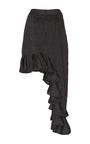 Ara Asymmetric Pinstripe Skirt by BEAUFILLE for Preorder on Moda Operandi