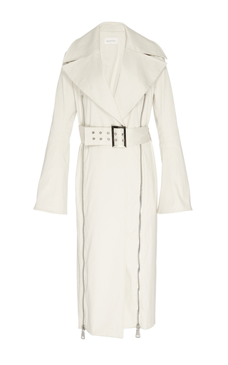 Gamma Zip Detail Trench Coat by BEAUFILLE for Preorder on Moda Operandi