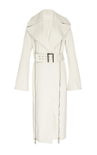 Medium beaufille white gamma zip detail trench coat