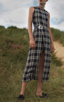 Canopus Plaid Wrap Skirt by BEAUFILLE for Preorder on Moda Operandi