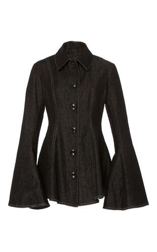 Heze Seamed Denim Peplum Jacket by BEAUFILLE for Preorder on Moda Operandi