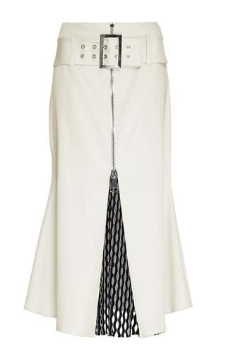 Medium beaufille white taurus mesh panel skirt