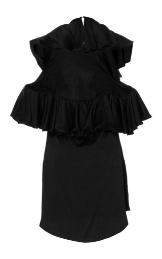 Mimosa Open Back Ruffled Blouse by BEAUFILLE for Preorder on Moda Operandi