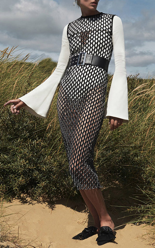 Rosalind Flared Long Sleeve Bodysuit by BEAUFILLE for Preorder on Moda Operandi
