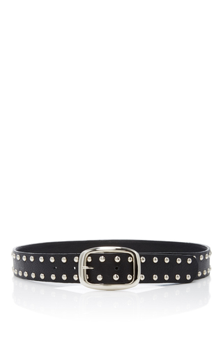 Medium rodarte black studded leather belt