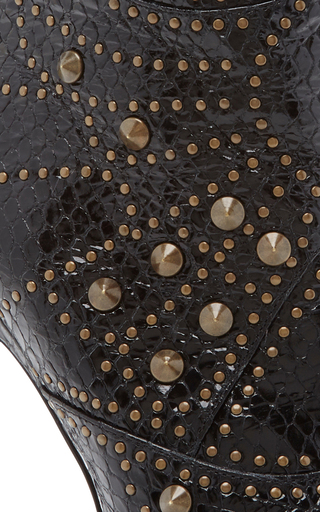 Embossed Studded Leather Ankle Boot by RODARTE for Preorder on Moda Operandi