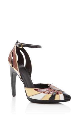 Medium rodarte brown leather pointed toe heel