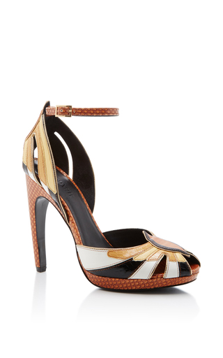Leather Open Toe Heel by RODARTE for Preorder on Moda Operandi