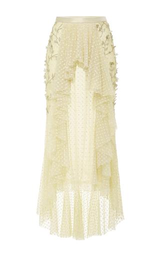 Medium rodarte yellow pearl tulle flower skirt
