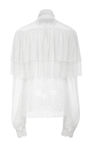 Polka Dot Long Sleeve High Neck Blouse by RODARTE for Preorder on Moda Operandi