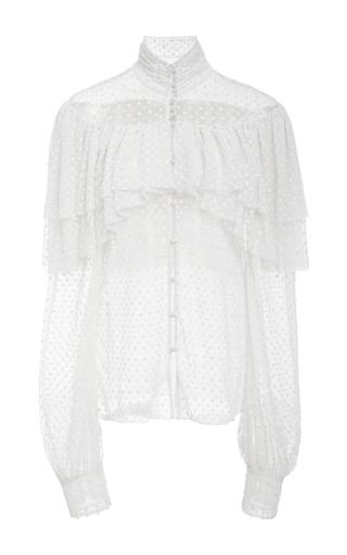 Medium rodarte off white polka dot long sleeve high neck blouse