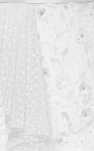 Off White Side Ruffle Polka Dot Tulle Skirt by RODARTE for Preorder on Moda Operandi