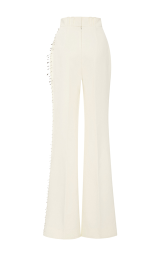 Ivory Safety Pin Embellished Trousers by RODARTE for Preorder on Moda Operandi