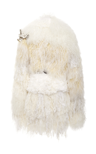 Shearling And Chiffon Coat by RODARTE for Preorder on Moda Operandi