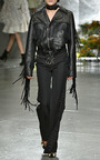 Black Safety Pin Embellished Trousers by RODARTE for Preorder on Moda Operandi