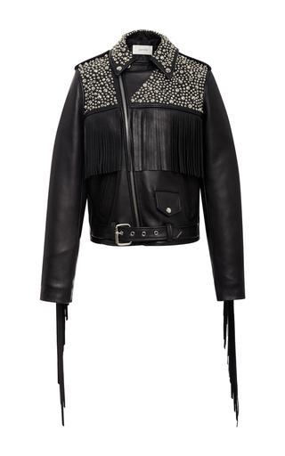 Studded Leather Motorcycle Jacket by RODARTE for Preorder on Moda Operandi
