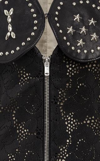 Laser Cut Leather Dress by RODARTE for Preorder on Moda Operandi