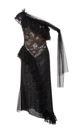Hand Embroidered Off The Shoulder Dress by RODARTE for Preorder on Moda Operandi