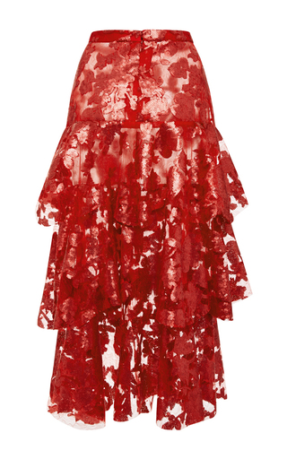 Sequin And Lace Tiered Skirt by RODARTE for Preorder on Moda Operandi