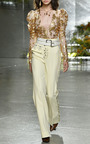 Gold Sequin And Lace Fitted Jacket by RODARTE for Preorder on Moda Operandi