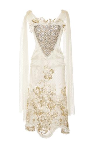Medium rodarte gold hand embroidered honeycomb dress